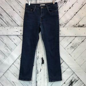 Levi's Dark Wash Mid Rise Skinny Jeans Size 12